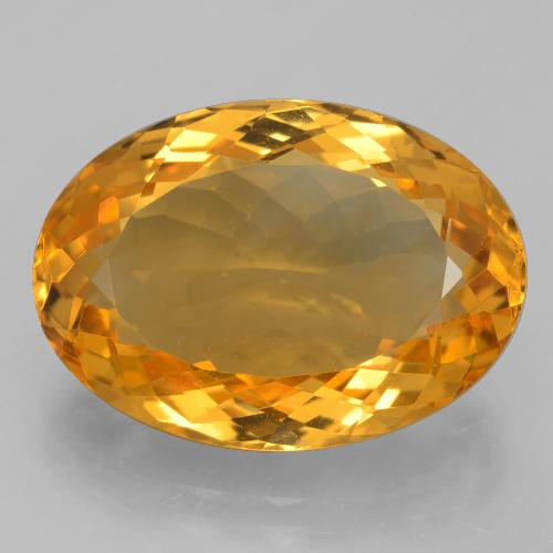 14.3ct Oval Facet Dark Orange-Gold Citrine Gem (ID: 397766)