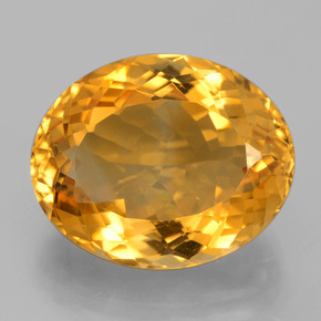 14.4ct وجه بيضاوى Deep Golden Orange سيترين حجر كريم (ID: 397767)
