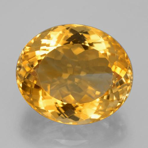 15.1ct وجه بيضاوى Deep Golden Orange سيترين حجر كريم (ID: 397770)