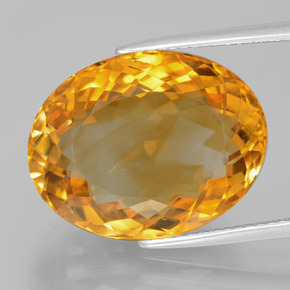 16.8ct Forma ovalada Deep Orange-Gold Citrina Gema (ID: 397772)
