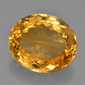 Yellow Golden Citrine Gem - 20.6ct Oval Facet (ID: 397816)