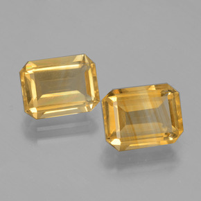 Yellow Golden Citrine Gem - 2.1ct Octagon Facet (ID: 398009)