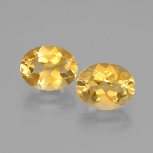 Bright Gold Citrine Gem - 1.8ct Oval Facet (ID: 398058)
