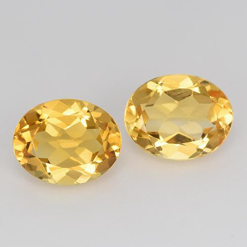 1.8ct Oval Facet Yellow Golden Citrine Gem (ID: 398062)