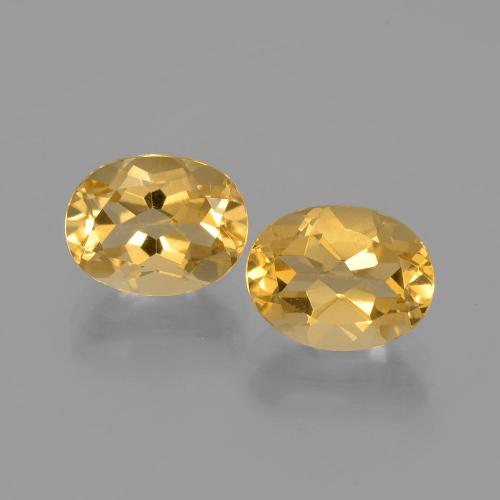 Yellow Golden Citrine Gem - 1.8ct Oval Facet (ID: 398239)
