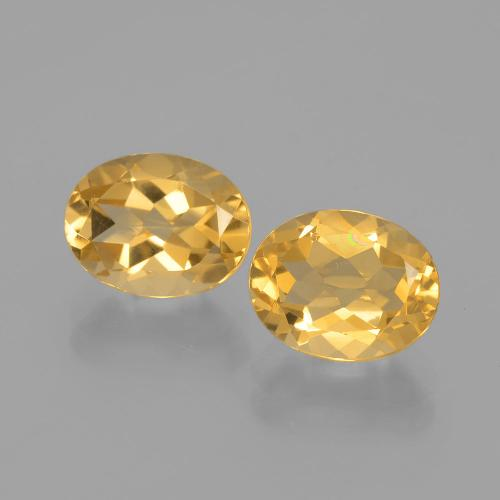 Yellow Golden Citrine Gem - 1.9ct Oval Facet (ID: 398240)