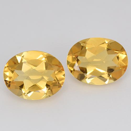Orange-Gold Citrina Gema - 1.6ct Forma ovalada (ID: 398244)