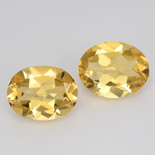 Yellow Golden Citrine Gem - 1.6ct Oval Facet (ID: 398245)