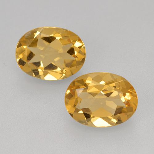 Light Orange-Gold Citrina Gema - 1.7ct Forma ovalada (ID: 398248)