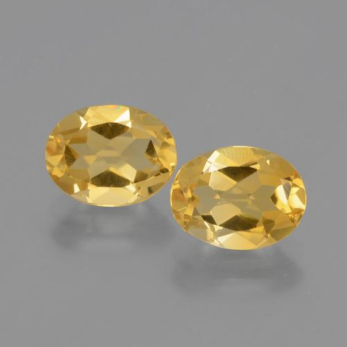 Yellow Golden Citrine Gem - 1.7ct Oval Facet (ID: 398321)