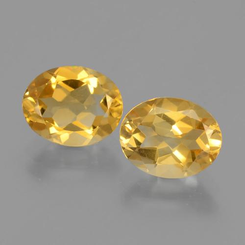 Yellow Golden Citrine Gem - 1.6ct Oval Facet (ID: 398323)