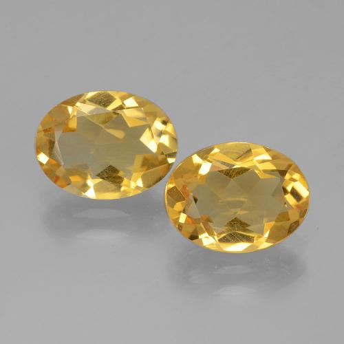 Golden Citrine Gem - 1.6ct Oval Facet (ID: 398526)