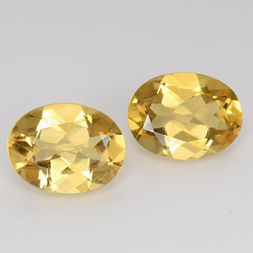 Medium Gold Citrina Gema - 1.5ct Forma ovalada (ID: 398548)