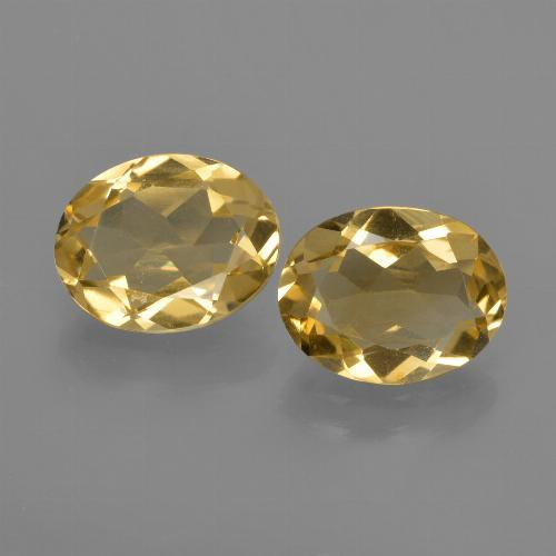 Yellow Golden Citrine Gem - 1.5ct Oval Facet (ID: 412175)