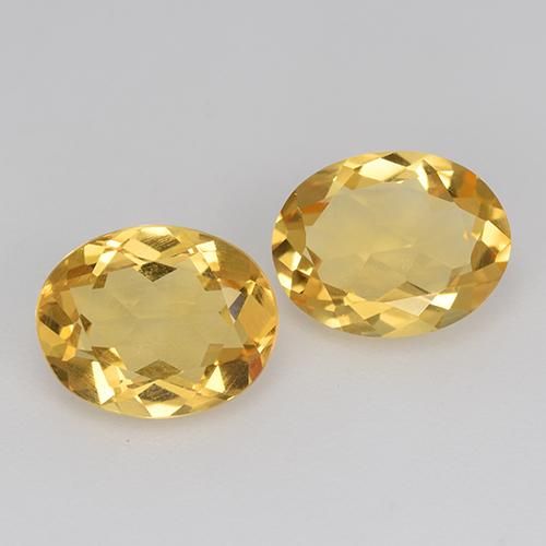 Yellow Golden Citrine Gem - 1.4ct Oval Facet (ID: 412178)