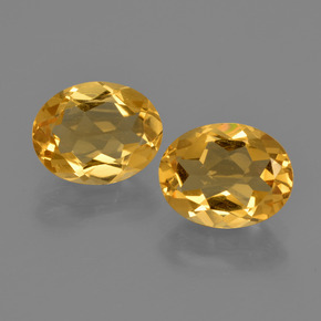 Yellow Golden Citrine Gem - 1.6ct Oval Facet (ID: 412180)