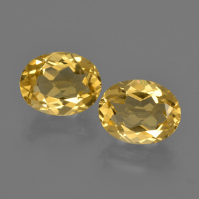 Yellow Golden Citrine Gem - 1.8ct Oval Facet (ID: 412184)