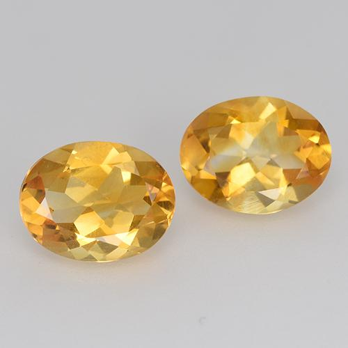 Yellow Golden Citrine Gem - 1.5ct Oval Facet (ID: 412238)