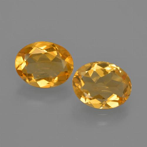Yellow Golden Citrine Gem - 1.4ct Oval Facet (ID: 412386)