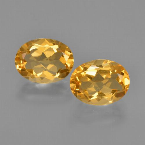 Yellow Golden Citrine Gem - 1.8ct Oval Facet (ID: 413456)