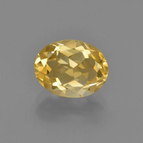 Gold Citrine Gem - 1.9ct Oval Facet (ID: 413471)