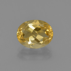 1.72 ct Oval Facet Light Golden Citrine Gemstone 8.98 mm x 7 mm (Product ID: 413472)
