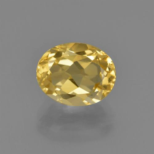 2.1ct Oval Facet Light Golden Citrine Gem (ID: 413475)