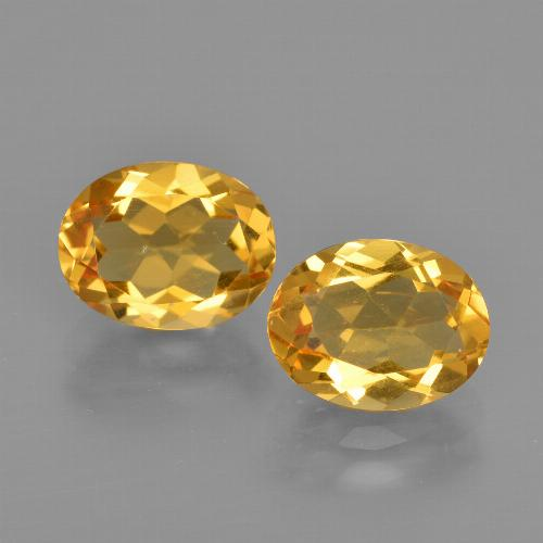 Golden Orange Citrine Gem - 1.7ct Oval Facet (ID: 413476)