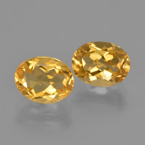 Yellow Golden Citrine Gem - 1.9ct Oval Facet (ID: 413598)