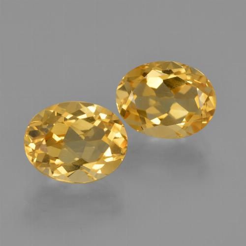 Golden Citrine Gem - 2ct Oval Facet (ID: 413600)