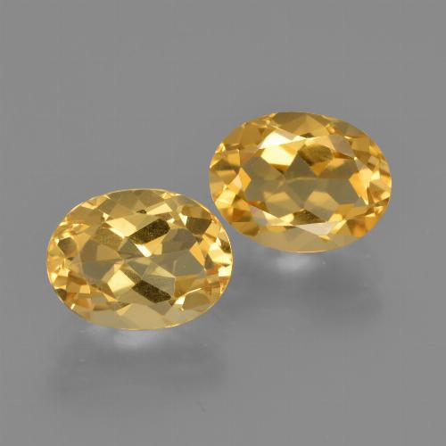 Yellow Golden Citrine Gem - 1.8ct Oval Facet (ID: 413604)