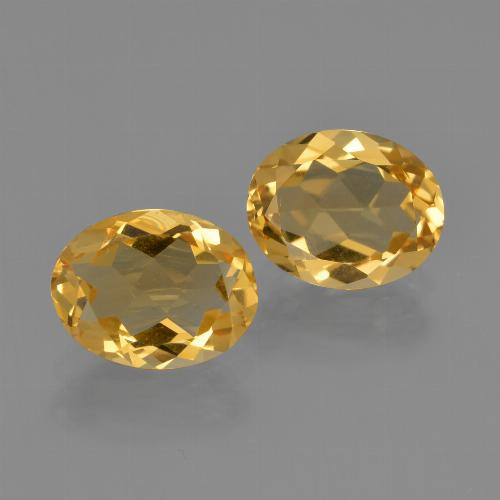 Deep Golden Orange Citrine Gem - 1.6ct Oval Facet (ID: 413615)