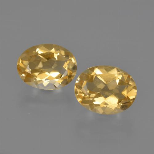 Yellow Golden Citrine Gem - 1.7ct Oval Facet (ID: 413634)