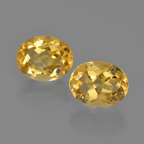 Yellow Golden Citrine Gem - 1.9ct Oval Facet (ID: 413637)