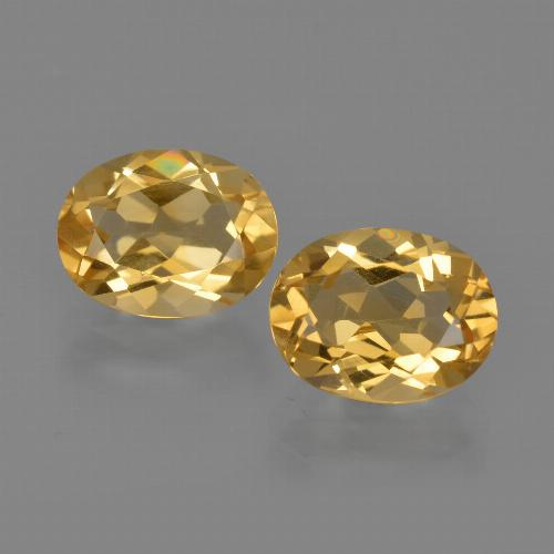 Yellow Golden Citrine Gem - 1.8ct Oval Facet (ID: 413638)