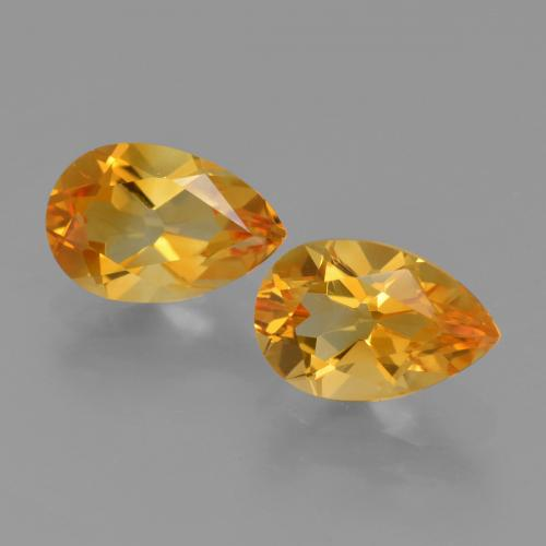 Yellow Golden Citrine Gem - 1.2ct Pear Facet (ID: 427446)