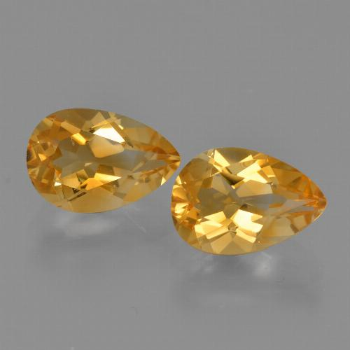 Yellow Golden Citrine Gem - 1.3ct Pear Facet (ID: 427510)