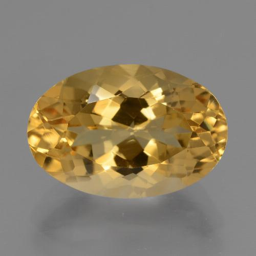 Medium-Dark Golden Citrina Gema - 7.1ct Forma ovalada (ID: 428022)
