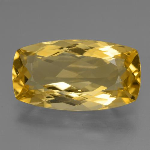 Medium Golden Citrina Gema - 6.4ct Corte en Forma Cojín (ID: 428069)