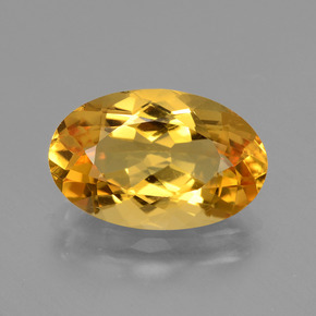Deep Orange-Gold Citrina Gema - 3.8ct Forma ovalada (ID: 428202)