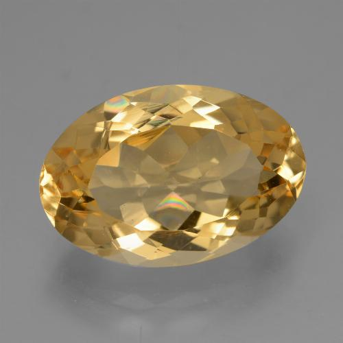 Deep Golden Orange Citrino Gem - 5.2ct Ovale sfaccettato (ID: 428296)