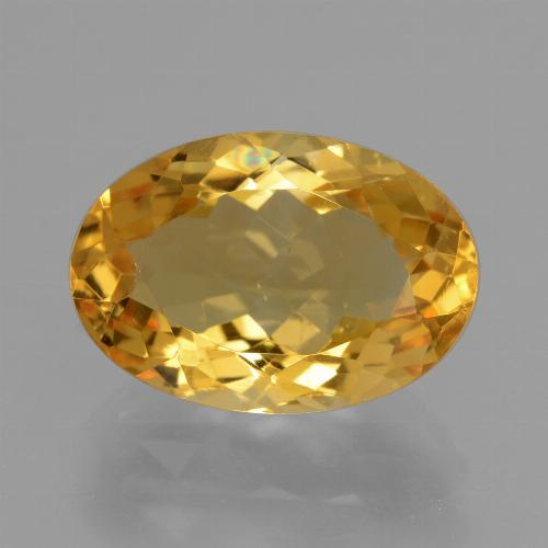 Dark Golden Citrina Gema - 6ct Forma ovalada (ID: 428352)