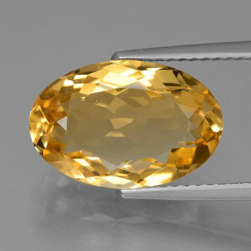 thumb image of 4.7ct Oval Facet Yellow Golden Citrine (ID: 428454)