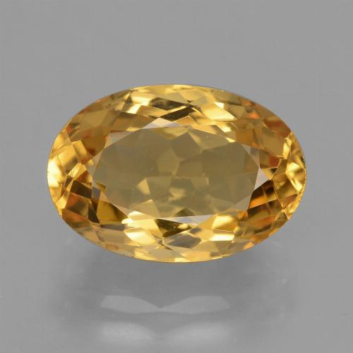 Deep Golden Orange Citrina Gema - 4ct Forma ovalada (ID: 428509)