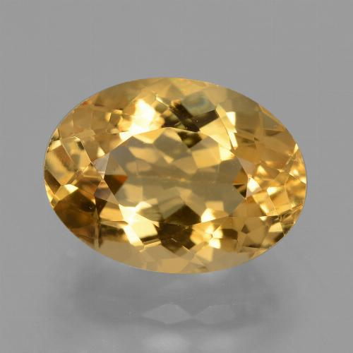 Deep Golden Orange Citrine Gem - 4.5ct Oval Facet (ID: 428513)