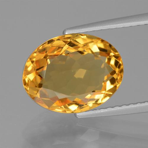 Medium Orange-Gold Citrina Gema - 3.7ct Forma ovalada (ID: 428667)