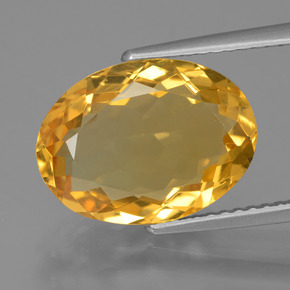 Dark Golden Citrine Gem - 4.6ct Oval Facet (ID: 428694)