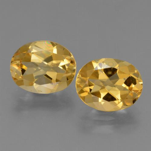 Yellow Golden Citrine Gem - 2.2ct Oval Facet (ID: 433493)