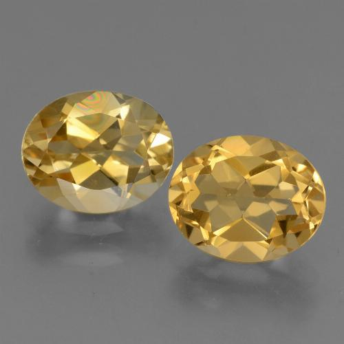 Yellow Golden Citrine Gem - 2.4ct Oval Facet (ID: 433495)