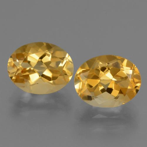 Yellow Citrine Gem - 2.5ct Oval Facet (ID: 433502)